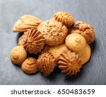 assorted cookies with chocolate ... | Shutterstock . vector #650483659