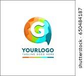 g letter talk brand identity.... | Shutterstock .eps vector #650484187