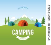 national camping month vector... | Shutterstock .eps vector #650484319