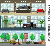 vector set of cars concept... | Shutterstock .eps vector #650486221