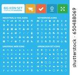 big icon set clean vector | Shutterstock .eps vector #650488069