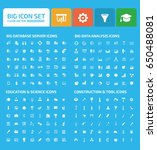 big icon set clean vector | Shutterstock .eps vector #650488081
