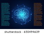 abstract technology science... | Shutterstock .eps vector #650494639