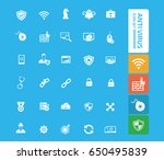 anti virus computer icon set... | Shutterstock .eps vector #650495839