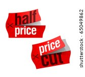 price cut and half price... | Shutterstock .eps vector #65049862