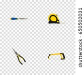 realistic arm saw  length... | Shutterstock .eps vector #650502031