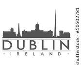 dublin skyline silhouette... | Shutterstock .eps vector #650502781