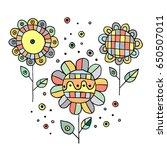 set of vector hand drawn... | Shutterstock .eps vector #650507011
