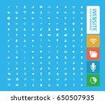 website icon set clean vector | Shutterstock .eps vector #650507935