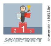 arab businesswoman achievement... | Shutterstock . vector #650513284