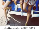 group of diverse friends travel ... | Shutterstock . vector #650518819