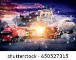 world map connection technology ... | Shutterstock . vector #650527315