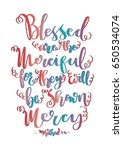 blessed are the merciful for... | Shutterstock .eps vector #650534074