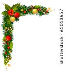 christmas evergreen branches in ... | Shutterstock .eps vector #65053657
