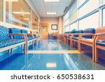 empty blue interior waiting... | Shutterstock . vector #650538631