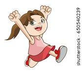 happy cheerful child girl active | Shutterstock .eps vector #650540239