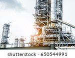 close up industrial view at oil ... | Shutterstock . vector #650544991