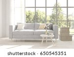 white room with sofa and green... | Shutterstock . vector #650545351