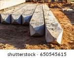 concrete pile foundation for... | Shutterstock . vector #650545615