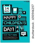 14 november happy children's... | Shutterstock .eps vector #650546257