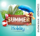 vector illustration of summer... | Shutterstock .eps vector #650546311