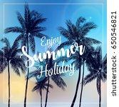 vector illustration of enjoy... | Shutterstock .eps vector #650546821