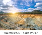 aerial view of opencast mining...   Shutterstock . vector #650549017