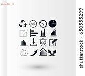 chart icon vector  flat design...   Shutterstock .eps vector #650555299
