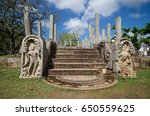 ruins of stone columns at... | Shutterstock . vector #650559625