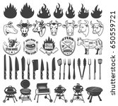 set of bbq and grill labels and ... | Shutterstock .eps vector #650559721