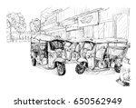 sketch of transportation city...   Shutterstock .eps vector #650562949