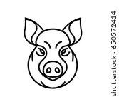 vector image of swine or pig... | Shutterstock .eps vector #650572414