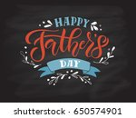 happy fathers day lettering... | Shutterstock .eps vector #650574901