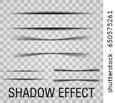 paper set sheet shadow effect.... | Shutterstock .eps vector #650575261