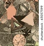 abstract art composition | Shutterstock .eps vector #65057599