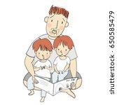 vector illustration of dad...   Shutterstock .eps vector #650585479