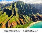 hawaii nature travel... | Shutterstock . vector #650585767