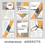abstract vector layout... | Shutterstock .eps vector #650592775