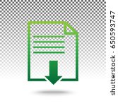 File Download Sign. Vector....