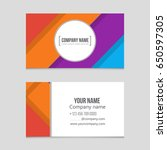 abstract vector layout... | Shutterstock .eps vector #650597305