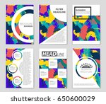 abstract vector layout... | Shutterstock .eps vector #650600029