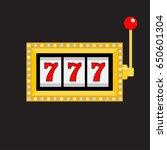 slot machine. golden color... | Shutterstock . vector #650601304