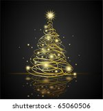 christmas tree | Shutterstock .eps vector #65060506