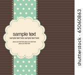 retro greeting card template... | Shutterstock .eps vector #65060863