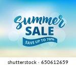 summer sale banner design... | Shutterstock .eps vector #650612659