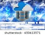 3d rendering cloud computing | Shutterstock . vector #650613571