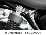 close up of motorcycle rear...   Shutterstock . vector #650619007