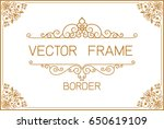 gold border design  frame photo ... | Shutterstock .eps vector #650619109