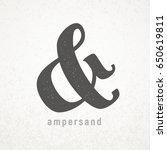 ampersand. elegant vector... | Shutterstock .eps vector #650619811