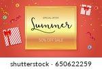 summer sale ad  selling banner...   Shutterstock .eps vector #650622259